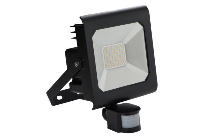 KANLUX LED reflektor ANTRA 50W studená bílá, černá s čidlem