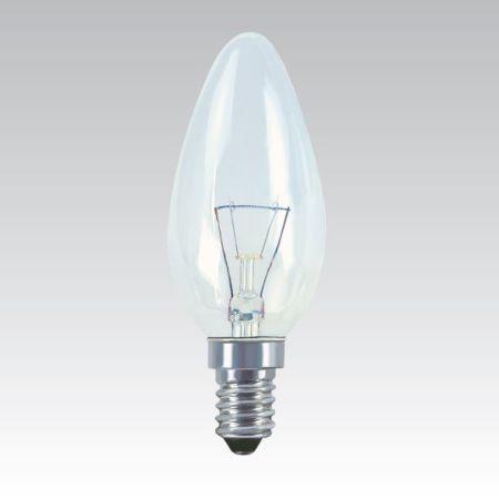 KANLUX Žárovka 40W E14 svíčka čirá otřesuvzdorná