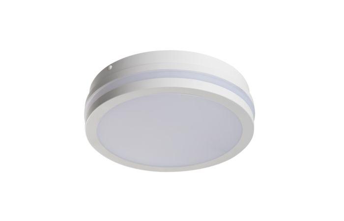 KANLUX LED Svítidlo BENO 18W 4000K s čidlem, kulaté, barva bílá