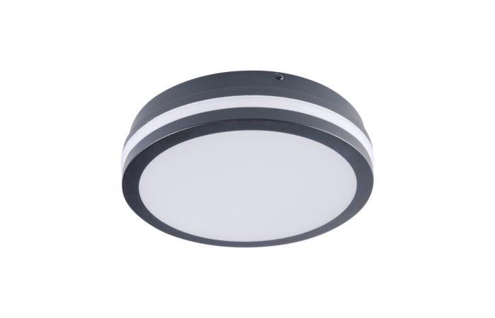 KANLUX LED Svítidlo BENO 18W 4000K s čidlem, kulaté, barva grafit