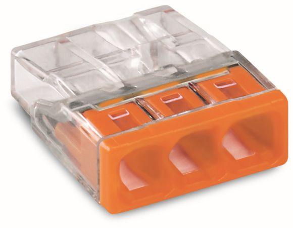 WAGO Svorka  2273-203 3x0,5-2,5mm spojovací, oranžová