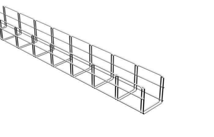 MERKUR Drátěný kabelový Žlab 100/100 M2 galvanický zinek, délka 2 m