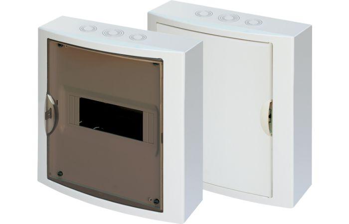 OEZ Skříň RZG-N-1T8 na omítku,průhledné dveře IP40