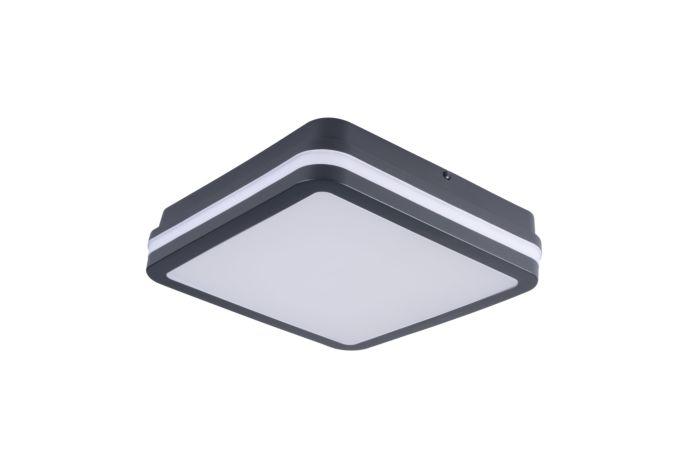 KANLUX LED Svítidlo BENO 18W 4000K s čidlem, čtverec, barva grafit